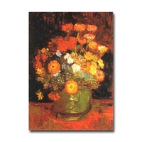 Van Gogh Van Gogh paintings fishtail daisy art fridge magnet world tourism souvenir home decoration magnetic stickers