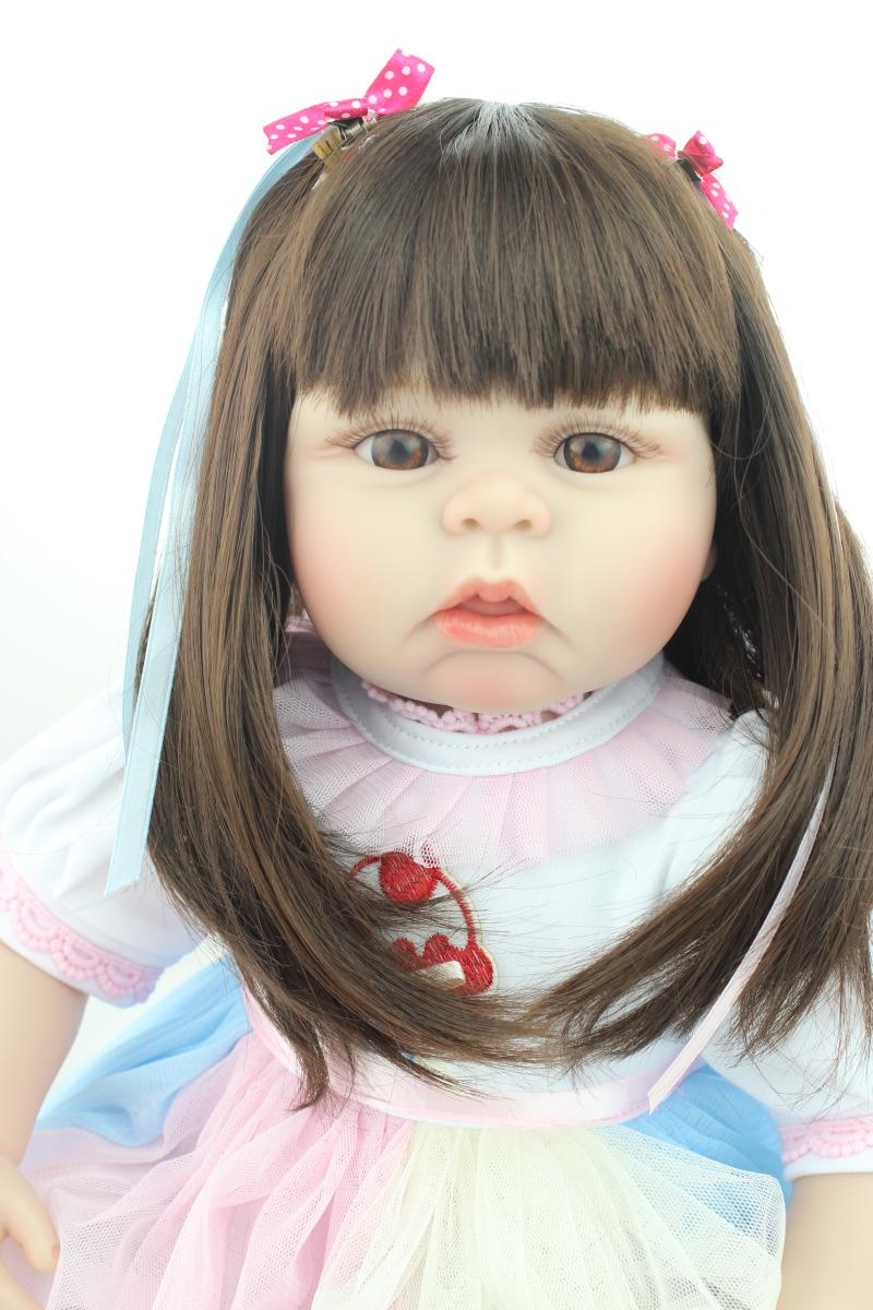 About 55cm Silicone reborn baby dolls accompany sleeping princess girl doll toy handmade lifelike Christmas gift brinquedosAbout 55cm Silicone reborn baby dolls accompany sleeping princess girl doll toy handmade lifelike Christmas gift brinquedos