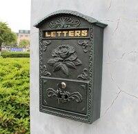 Tłoczone Tapicerka Wystrój Brązu żeliwa skrzynki naścienne mailbox Skrzynki Pocztowej Wysokiej jakości Ogród Ozdobny Ogród Ozdobny poczty