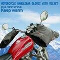 2016 Manillar de La Motocicleta de Invierno Cálido y Resistente Al Agua, mantener la lluvia y la nieve, Guantes resistentes con Terciopelo