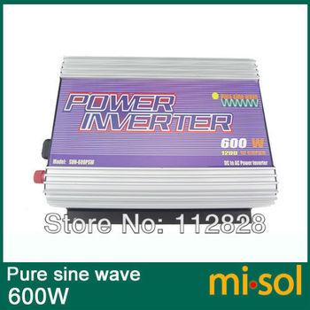 Inverter 12V/230V/50Hz, 600W, PURE SINE WAVE, for photovoltaic, for solar system,