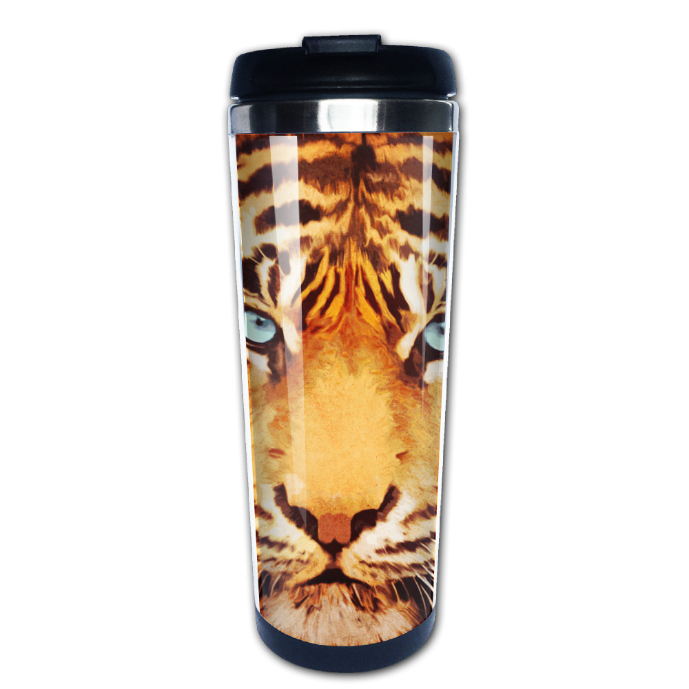 tiger coffee mug gift mom tazas stainless steel tumbler caneca tea Cups