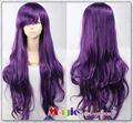 80CM Long Dark Purple LOL League of Legends Curly Hair Annie Cosplay Wigs Full Lace Synthetic Wigs