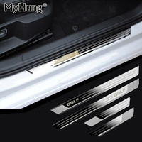 Slim Stainless Steel Door Sill Scuff Plate For Volkswagen Golf 6 Golf 7 MK7 2011 To