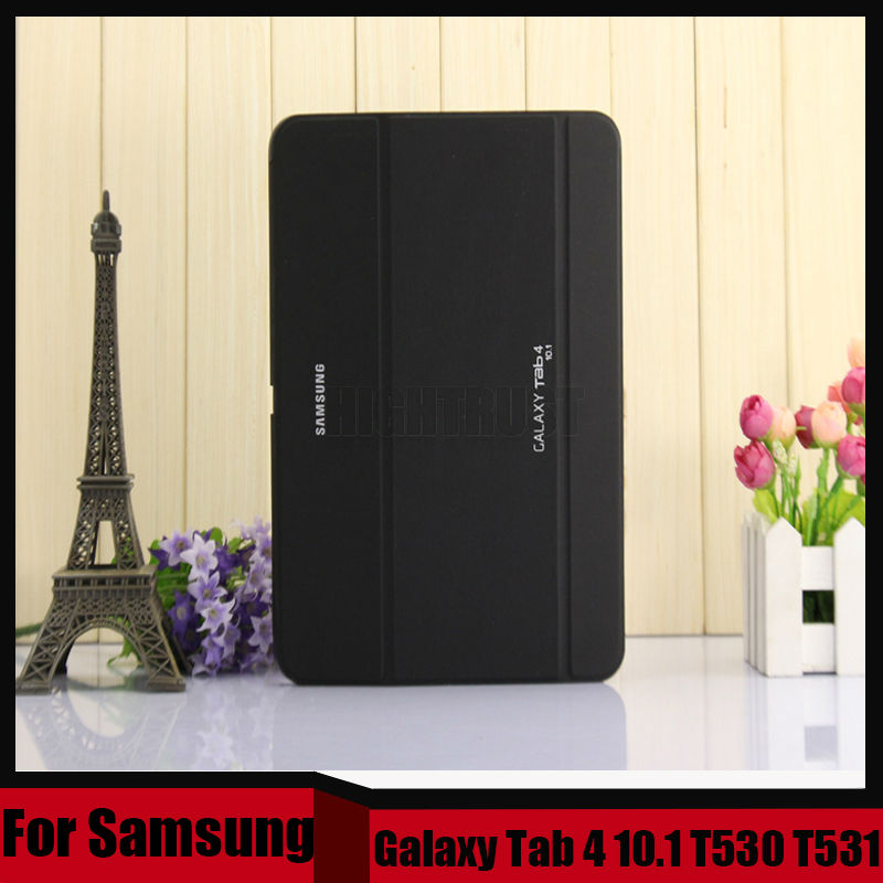 3 in 1 Business Smart Pu Leather Book Cover Case For Samsung Galaxy Tab 4 10.1 T530 T531 T535 + Stylus + Screen Film