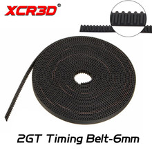 XCR3D 3D Printer Bagian 2GT Timing Belt GT2 Terbuka Sabuk Sinkron 6 Mm Lebar PU Warna Hitam 2 Mm 1 Meter Panjang 5 M Timing Belt(China)