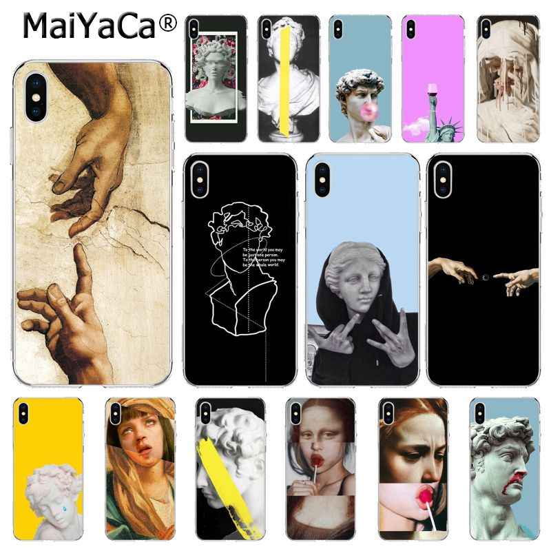 MaiYaCa Abstract Art Lines David Mona Lisa funny Phone case For iphone 11 Pro 11Pro MAX 8 7 6 6S Plus X XS MAX 5 5S SE XR