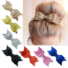 Bow-Accessories Hairpin Girls Kids Barrette Bowknot Fashion Adult Big Sequin Yundfly