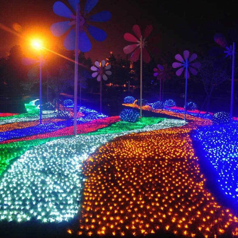 JUNJUE LED ไฟ 220V งานแต่งงานตกแต่งคริสต์มาส Fairy Light String เทศกาลวันหยุด Multi โคมไฟสวนกลางแจ้ง