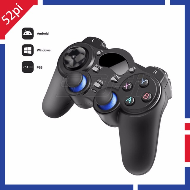 2.4G Wireless Gamepad Game Controller Joystick Joypad for PC, Raspberry Pi, RetroPie, Android Smart TV Box, Tablet PC, PS3