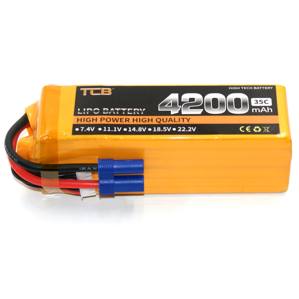 TCB RC lipo battery 22.2V 4200mAh 35C 6s li-poly batteria for rc model airplane Quadrotor car boat X/XT60 PLUG wild scorpion rc 18 5v 5500mah 35c li polymer lipo battery helicopter free shipping