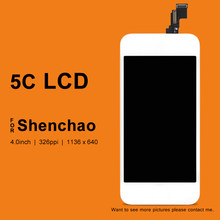 10PCS For iPhone 5C LCD Display For ShenChao Quality Touch Screen Digitizer Assembly Replacement Parts For iphone 5C Screen(China)