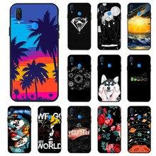 Ojeleye Fashion Black Silicon Case For Huawei Nova 3i Cases Anti-knock Phone Cover P Smart Plus 2018 Covers