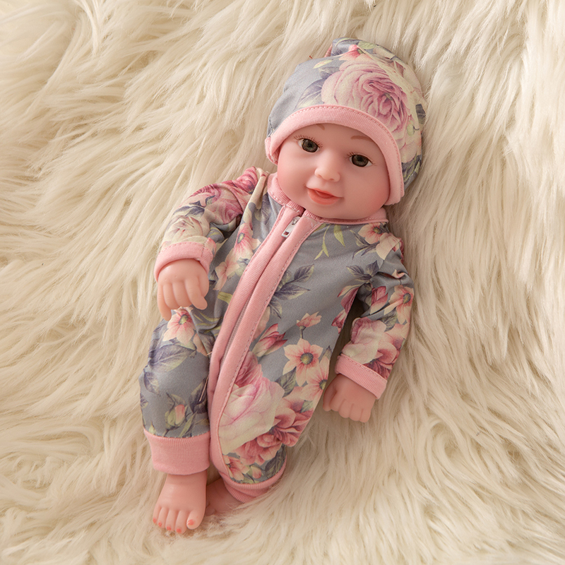 Fit 10 inch Reborn Doll Sunflower Pajamas Girl Boy Full Silicone Cute Twins Dolls Lifelike Doll Reborns for Toddler Bathing Doll in Dolls from Toys Hobbies