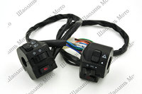 1 Pair Vintage Spray Black Motorcycle Switch Power 12V For Universal Motorcycle Bike ATV Dirt 7