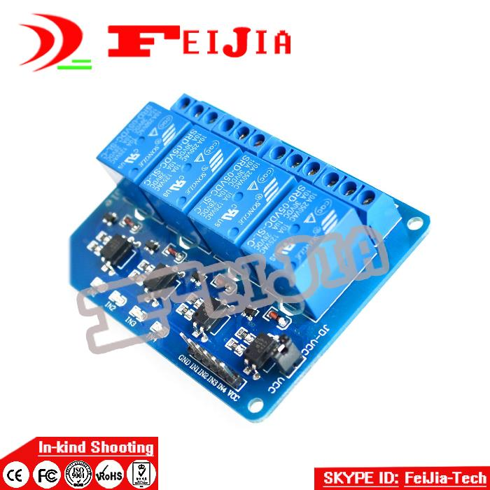 4 channel relay module 4-channel relay control board with optocoupler. Relay Output 4 way relay module for ard uino