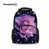 Whosepet بيربل روز طباعة المدرسية للبنات الكتف حقيبة كبيرة حقيبة المرأة الأنيقة الجديدة الطهر سفر جديدة للمدرسة