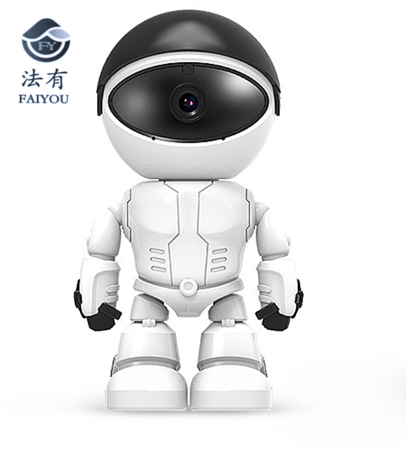 Wireless White Robot WIFI Camera IP P2P CCTV Cam Baby Monitor Surveillance HD H.264130MP Lens IR Night Vision for Android or IOS