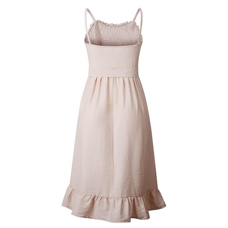 ruffles pleated boho summer beach dress (22)