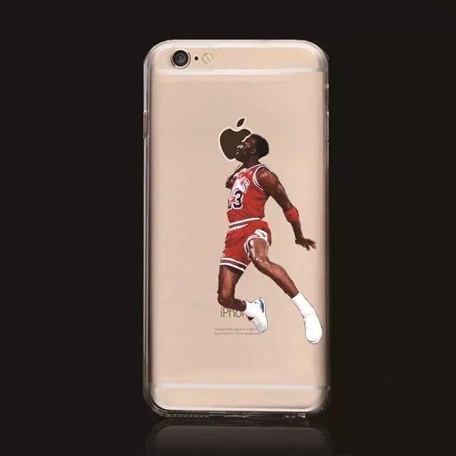 lebron dunking apple logo case. online shop michael jordan kobe bryant stephen curry basketball star case for iphone 6 4.7 lebron james hard plastic cover phone cases | aliexpress mobile lebron dunking apple logo