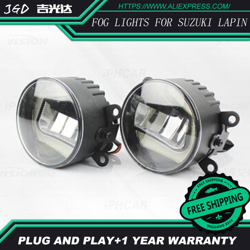 For Suzuki Lgnis LR2 Car styling front bumper LED fog Lights high brightness fog lamps 1set led front fog lights for jaguar s type ccx saloon 1999 2007 2008 car styling bumper high brightness drl driving fog lamps 1set