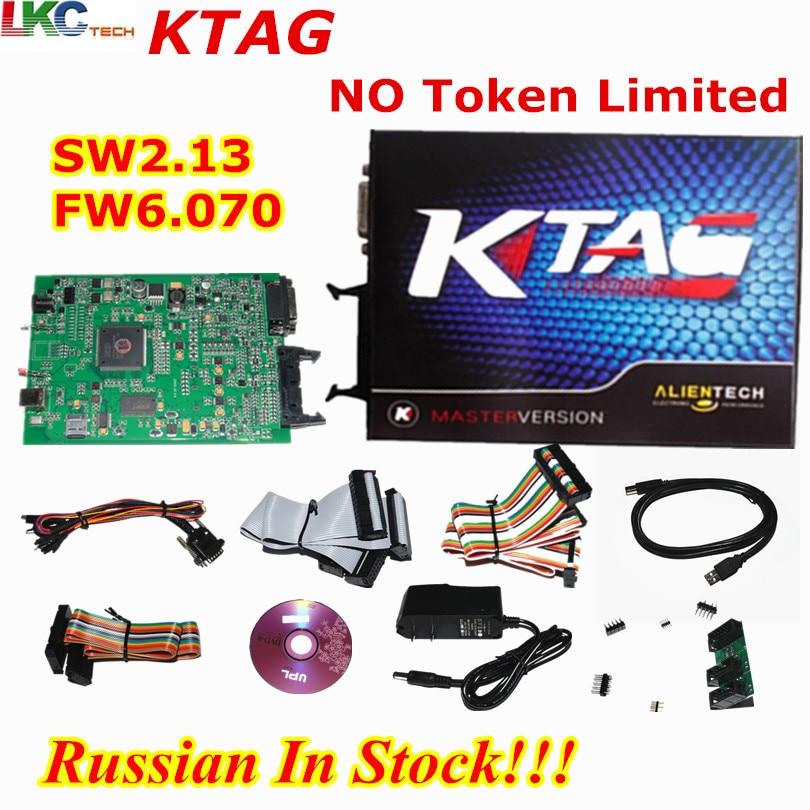 Russian In Stock!!! Ktag K-tag V2.13 Main Unit K TAG V6.070 ECU Chip Tuning Tool Master  ...
