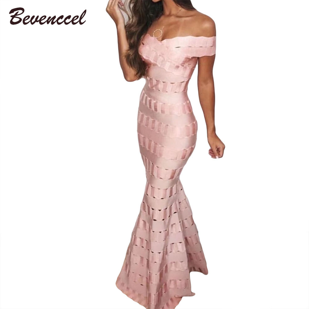 2018 Women Chic Maxi Dress Sleeveless Slash Neck Jacquard A Line Celebrity Bodycon Floor Length Vestidos Evening Party Dress
