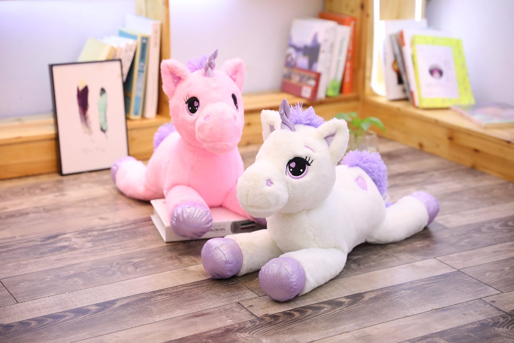 de pelúcia unicórnio gigante brinquedo de cavalo