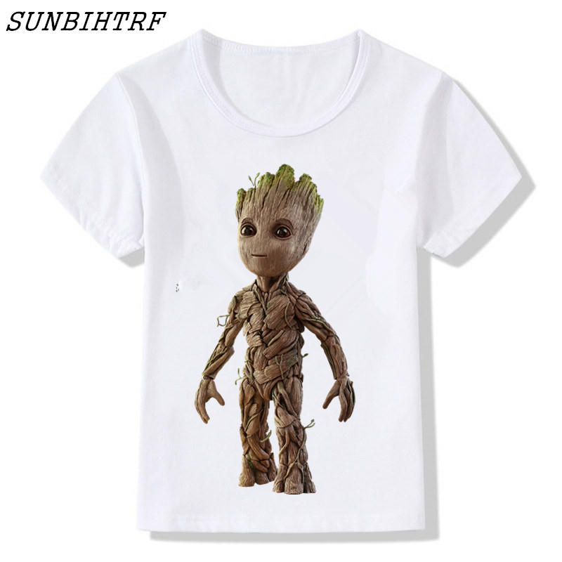 T-Shirt Groot Short-Sleeve Kids Children Boy/girls Guardians-Of-The-Galaxy Funny Printed
