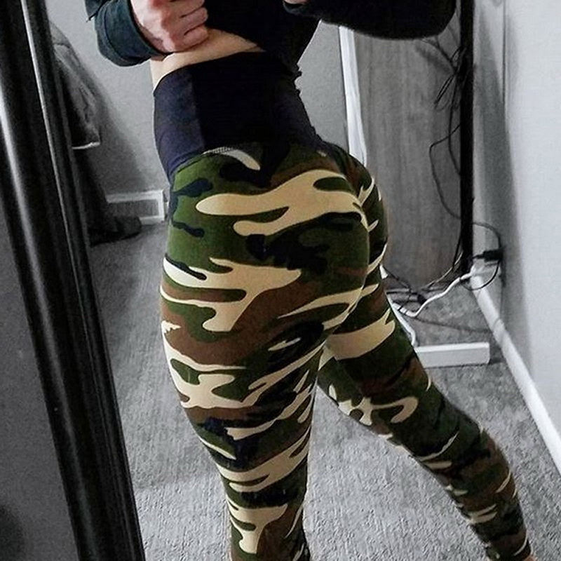 NIBESSER Camouflage Slim Hip Pants S-XL Fitness Trousers Jogger Leggings Women Pants Sportswear Bottom Pencil Femme Legging