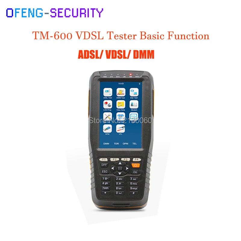TM 600 VDSL VDSL2 прибор для тестирования ADSL WAN и LAN Тесты er xDSL линии Тесты оборудования с базовой версии