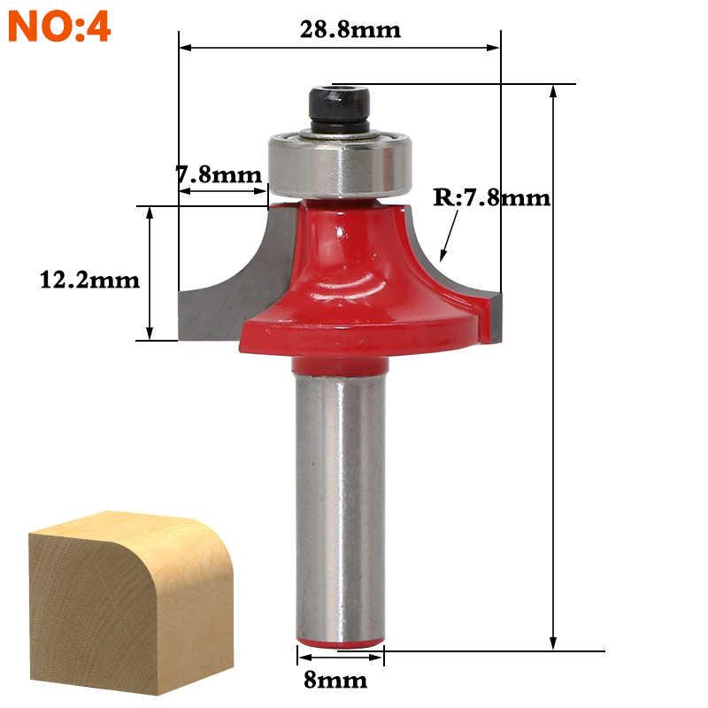 1 sztuk 8mm Shank drewna router bit prosto koniec frez trymer do czyszczenia flush wykończenia zestaw frezów bitów narożnych stożkowych okrągłych narzędzia frez