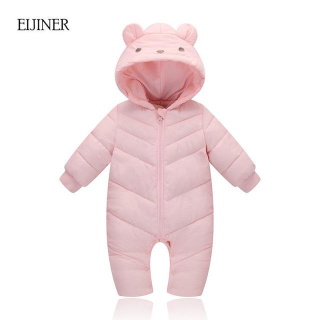 81d070de094d9 Bébé fille vêtements d hiver 2017 nouveau chaud bébé garçon vêtements d hiver  combinaison
