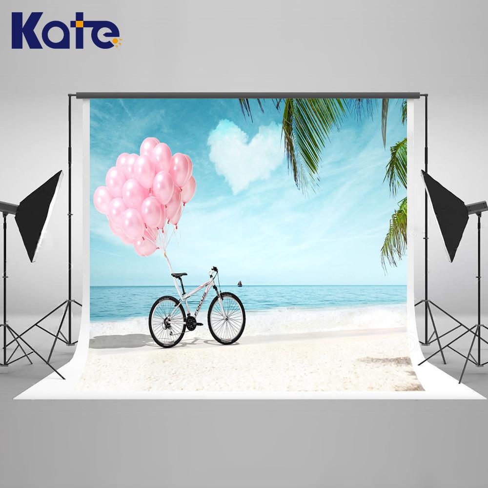 ФОТО Kate Ocean Backdrop Sky Globos and Cloud Backdrops Newborn Photography Background Seamless Photo For Studio Custom