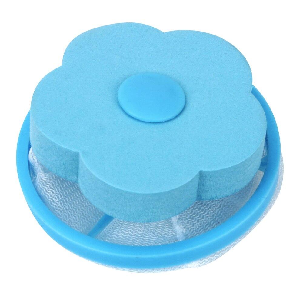 Удаление волос Catcher фильтр сетчатый мешок очистка шарики мешок грязного волокна коллектор стиральная машина фильтр Прачечная шарики диски - Цвет: Синий