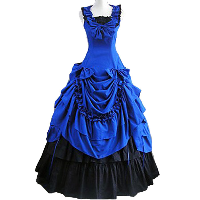 southern Belle costume women adult victorian ball gowns blue lolita ...