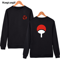Naruto Capless Hoodies And Sweatshirt Japanese Classic Anime Naruto Couples Tops Uchiha Syaringan Clothes Wangcangli