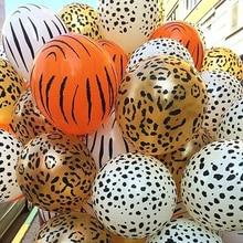 1 zestaw lateksowe balony ze zwierzętami urodziny dżungla impreza w stylu Safari dżungla impreza tematyczna balon dekoracja urodzinowa zabawki dla dzieci