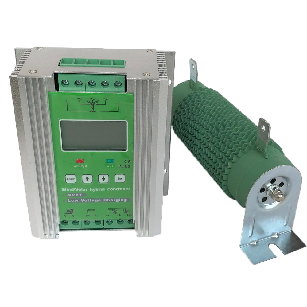 1kw 1 4kw Boost MPPT Wind Solar Hybrid Controller 12V 24V for 800W 600W Solar with