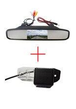 Цвет Автомобиля Камера Заднего вида для VOLVO S80 SL40 SL80 XC60 XC90 S40 C70, 4.3 Дюймов складной LCD монитор