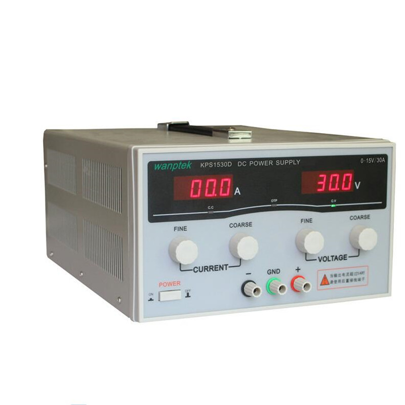 KPS1530D High precision Adjustable LED Dual Display Switching DC power supply 220V 400W 15V/30A 0.1v / 0.1A high quality wanptek kps1530d high precision adjustable display dc power supply 15v 30a high power switching power supply