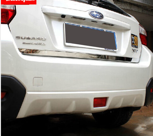 ФОТО Stainless Rear Bumper Protector trunk Down trim For SUBARU XV 2012+