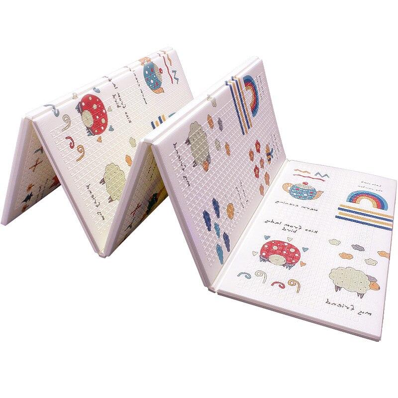 Tapis de jeu pour bébé XPE Puzzle en mousse tapis de sol pour enfants tapis rampant pour chambre de bébé tapis pliable pour bébé tapis pour bébé - 2