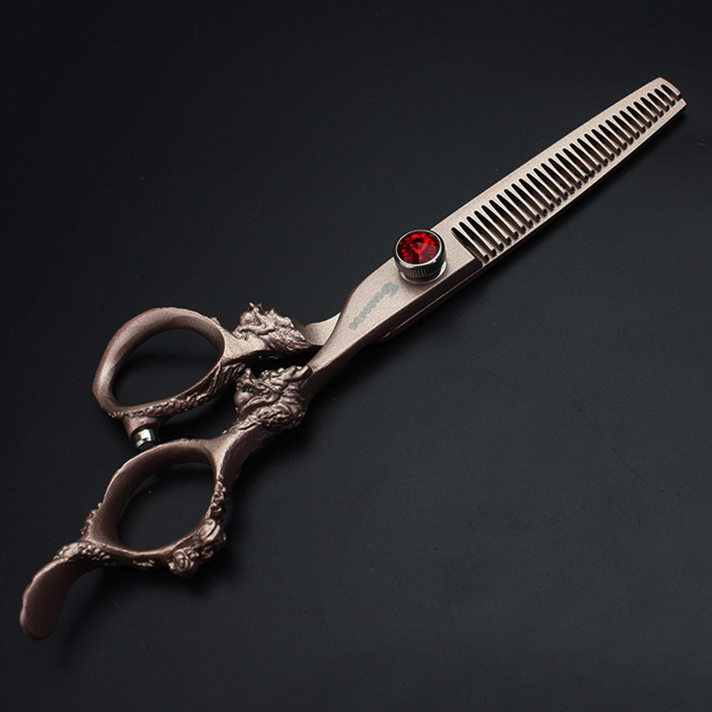 6 Inch High Quality Professional Hairdressing Scissors Set Hair Cutting and Thinning Barber Salon scissors Equipment tool