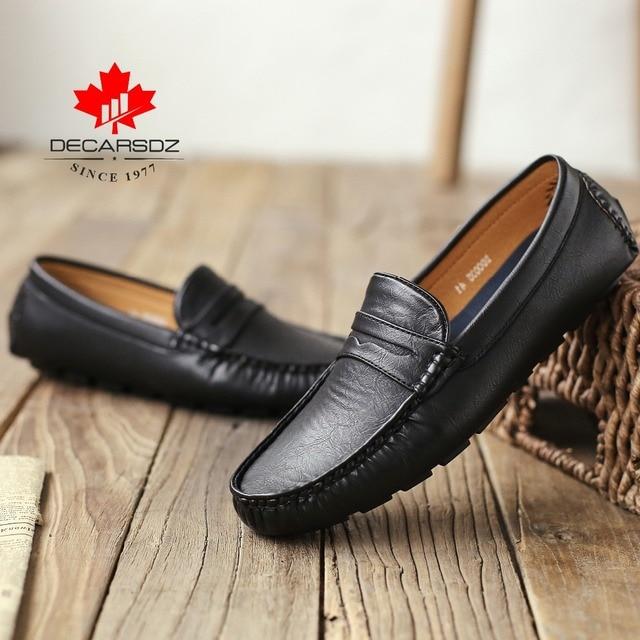 Müßiggänger Schuhe Männer Mode Schuhe Männer 2020 Herbst Comfy Slip on herren Wohnungen Mokassins Männlichen Schuhe Marke Leder männer Casual Schuhe