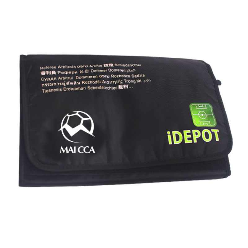 Professional Soccer referee wallet portable cover bag handle sports bags Football bag referee judge equipment