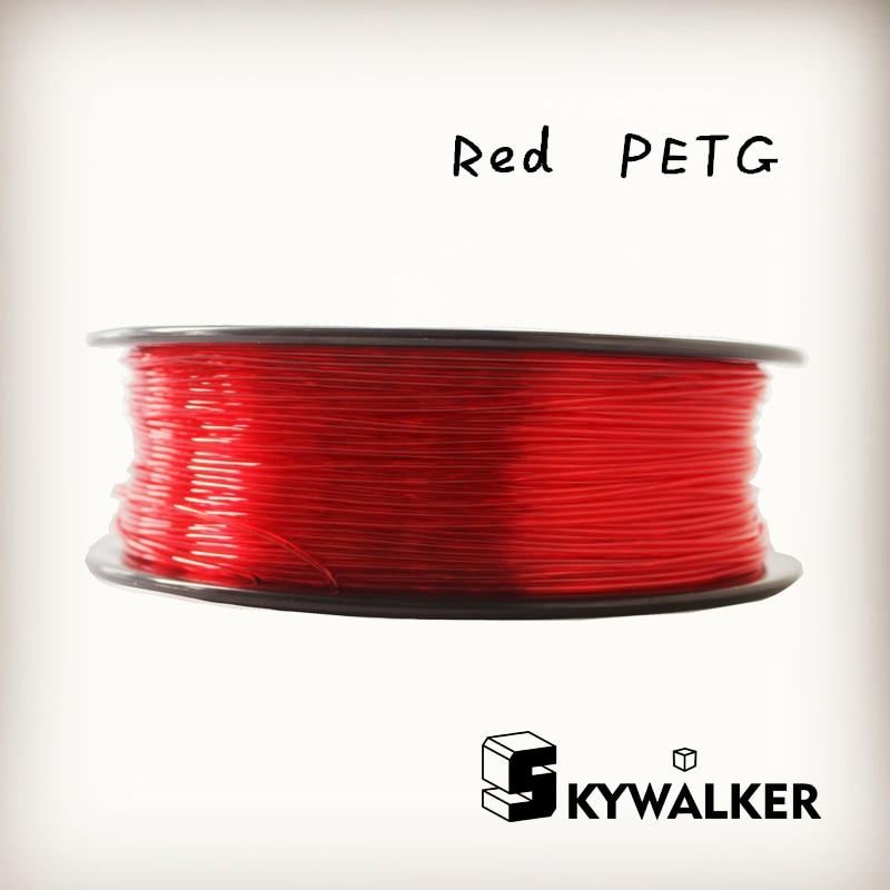 ФОТО Red color petg 1.75mm 3d filament 1kg high petg 3d filament quality red color  3d printer filament petg plastic