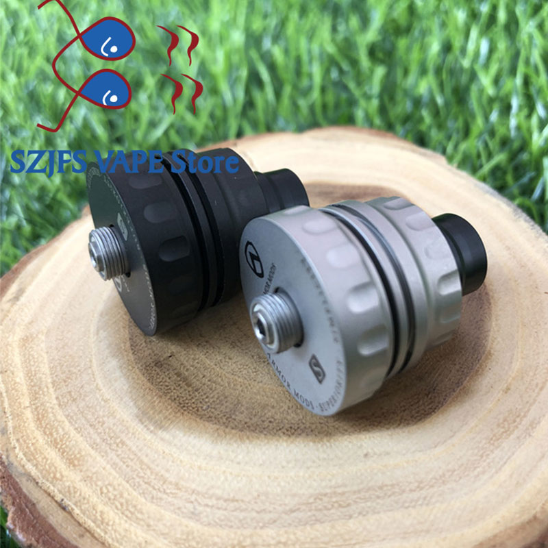 Armor S Styled RDA Rebuildable Dripping Atomizer with bf pin 22mm 316 ss 510 thred Top oiling diy edc Atty vs kennedy GOON rda in Electronic Cigarette Atomizers from Consumer Electronics