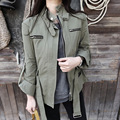 [XITAO] NEW Autumn Korea wind casual style short length slimming form solid color zipper adjustable waist female trench CMB-030