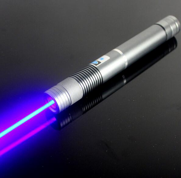 Guaranteed100 450nm Focus Adjustable Blue Laser Pointer Burning